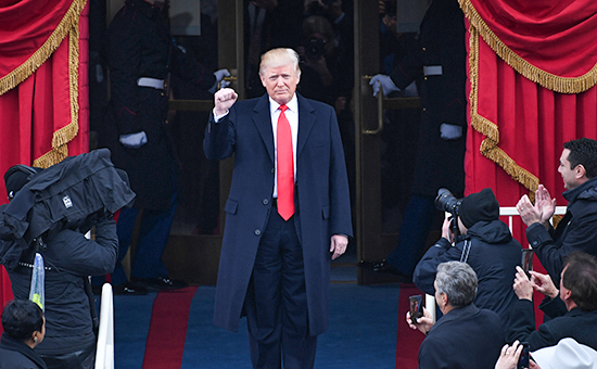 January 20, 2017 - Washington, District of Columbia, U.S. - President-elect DONALD J. TRUMP arrives for his inauguration in Washington, D.C. Trump becomes the 45th President of the United States. (Credit Image: © Pat Benic/CNP via ZUMA Wire)
