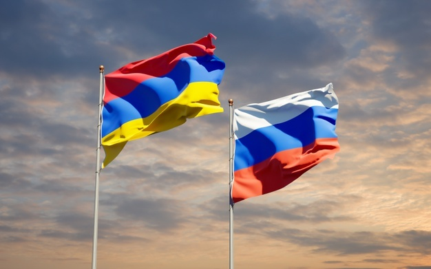 beautiful-national-state-flags-of-russia-and-armenia-together-on-blue-sky-3d-artwork_337817-4586
